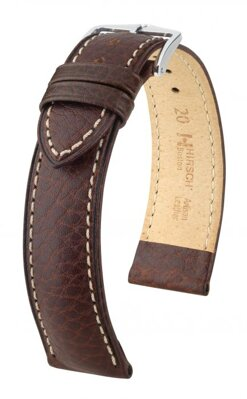 Hirsch Boston - brown - leather strap
