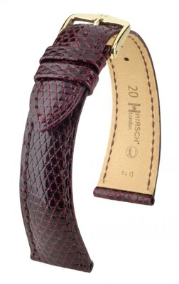Hirsch London - burgundy - leather strap