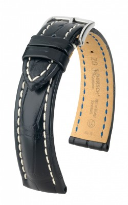 Hirsch Capitano - black - leather strap