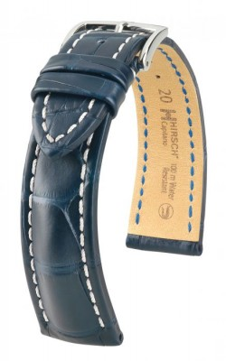 Hirsch Capitano - blue - leather strap
