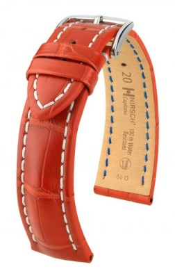 Hirsch Capitano - red - leather strap