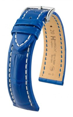 Hirsch Capitano - royal blue - leather strap