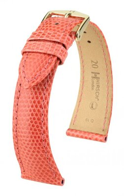 Hirsch London - pink - leather strap