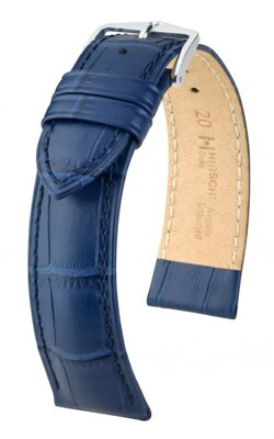 Hirsch Duke - blue - leather strap