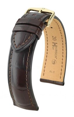 Hirsch Earl - dark brown - leather strap