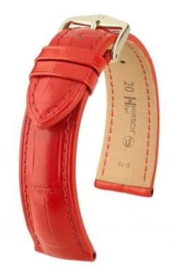 Hirsch Earl - red - leather strap