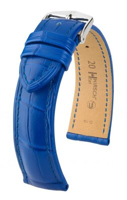 Hirsch Earl - royal blue  - leather strap