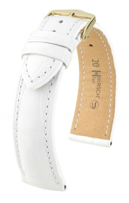 Hirsch Earl - white - leather strap