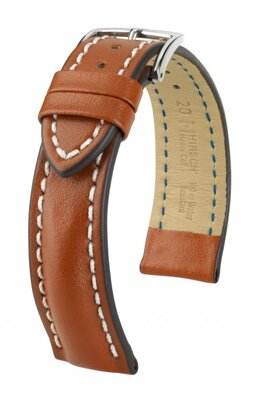 Hirsch Heavy Calf - golden brown - leather strap