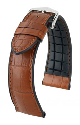 Hirsch Ian - golden brown - leather / rubber strap