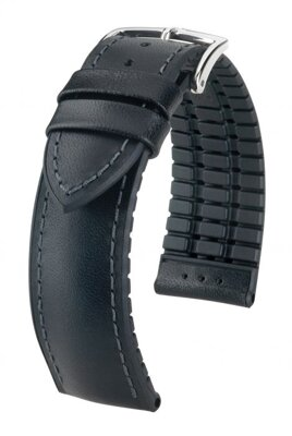 Hirsch James - black - rubber / leather strap