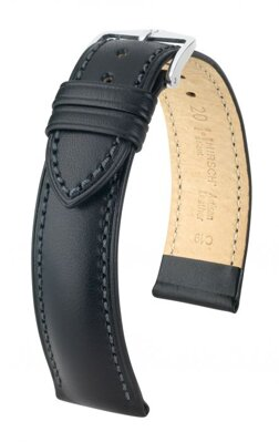 Hirsch Kent - black - leather strap