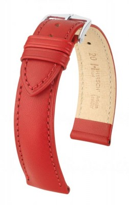Hirsch Kent - Red - leather strap