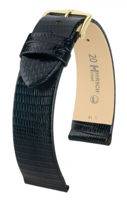 Hirsch Lizard - black  - leather strap