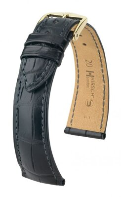 Hirsch London - black alligator - leather strap