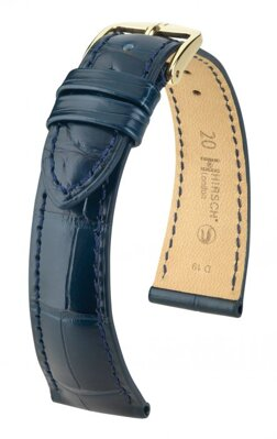 Hirsch London - blue alligator - leather strap