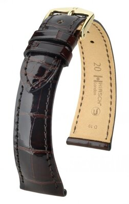 Hirsch London - brown shiny alligator - leather strap
