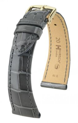 Hirsch London - gray shiny alligator - leather strap
