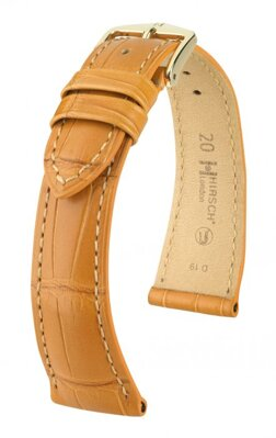 Hirsch London - honey alligator - leather strap