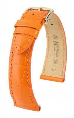Hirsch London - orange alligator - leather strap