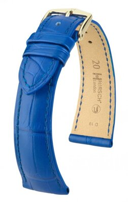 Hirsch London - royal blue alligator - leather strap