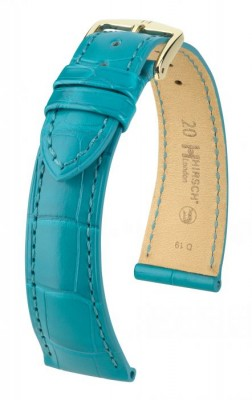 Hirsch London - turquoise alligator - leather strap
