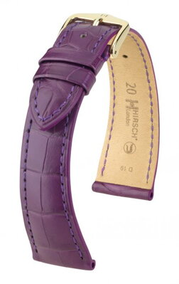 Hirsch London -  dark violet alligator - leather strap