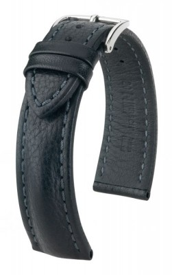 Hirsch Lucca -  black - leather strap
