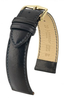 Hirsch Merino - black - leather strap