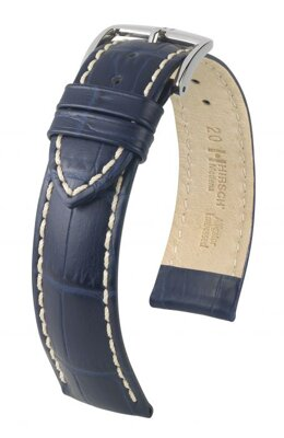 Hirsch Modena - blue - leather strap