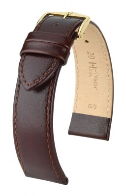 Hirsch Osiris - brown shiny - leather strap