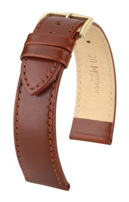 Hirsch Osiris - mid brown shiny - leather strap