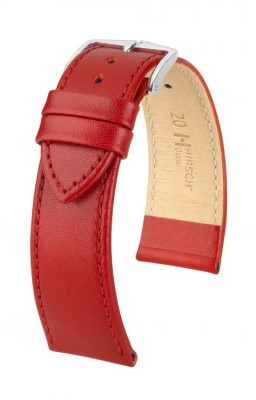 Hirsch Osiris - red shiny - leather strap