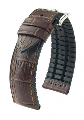 Hirsch Paul - brown - rubber / leather strap