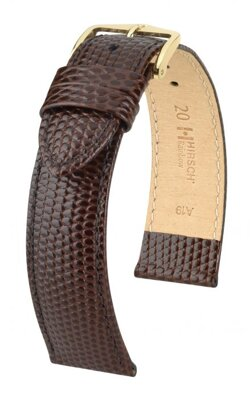 Hirsch Rainbow - brown - leather strap