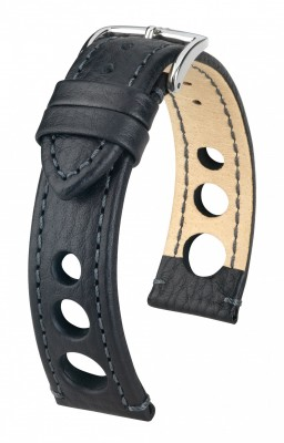 Hirsch Rally - black - leather strap