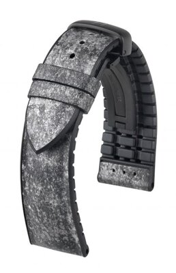 Hirsch Stone - anthracite - leather strap