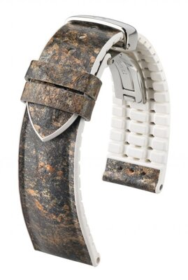 Hirsch Stone - grey - leather strap