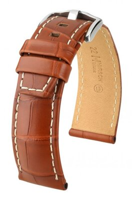 Hirsch Tritone - golden brown - leather strap