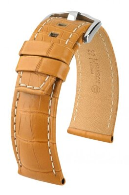 Hirsch Tritone - honey - leather strap