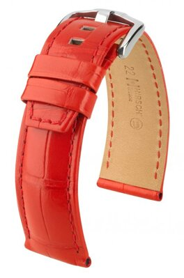 Hirsch Tritone - red - leather strap