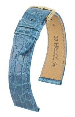Hirsch Genuine croco - turquoise - leather strap