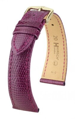 Hirsch London - violet shiny - leather strap