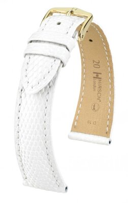 Hirsch London - white - leather strap