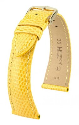 Hirsch London - yellow - leather strap