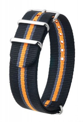 Hirsch Rush nato - black - orange/grey