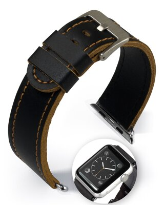 Dallas - Smart Apple Watch - golden brown - leather strap