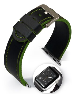 Dallas - Smart Apple Watch - green - leather strap