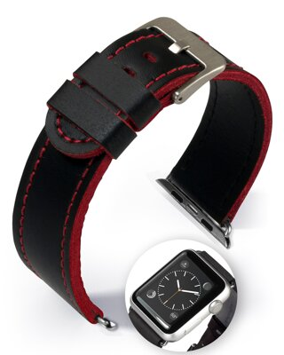 Dallas - Smart Apple Watch - red - leather strap