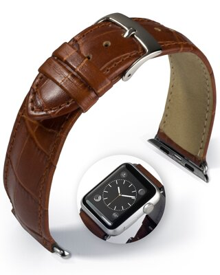 Denver - Smart Apple Watch - medium brown - leather strap